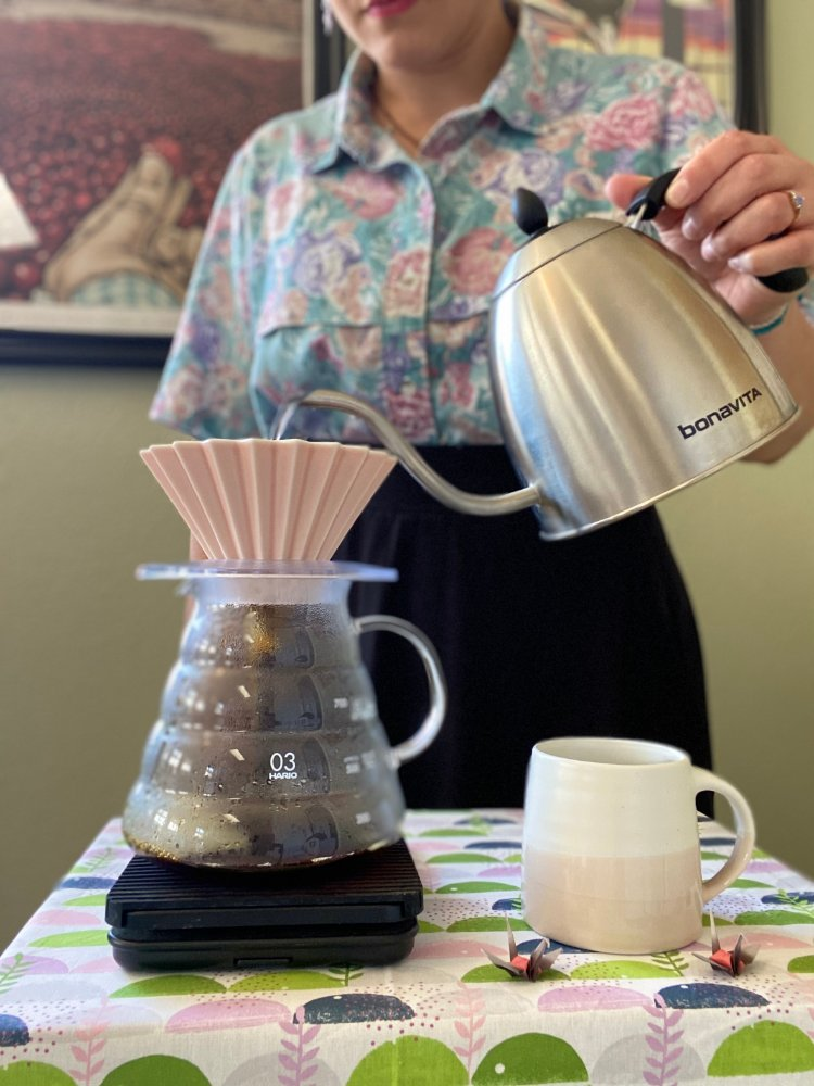Image of Grab your gooseneck kettle, start your timer, and pour! :D...