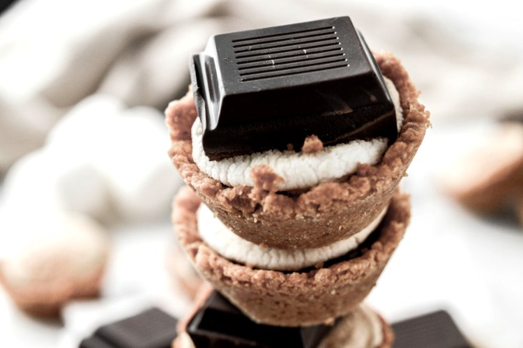Image of Optional, garnish with a chocolate square.