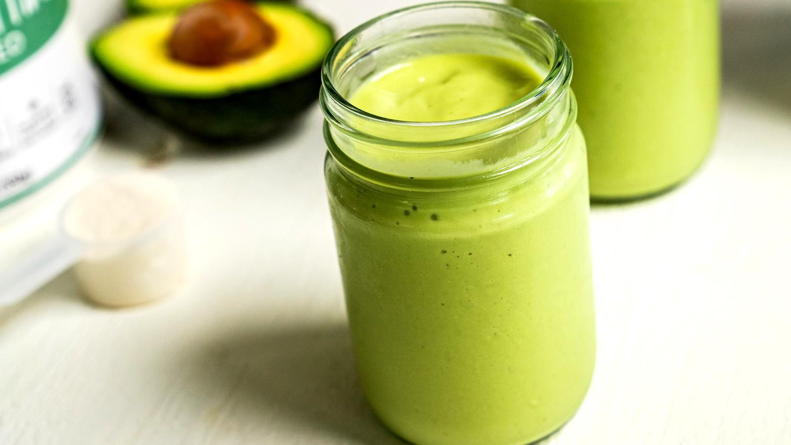 Image of Keto Avocado Smoothie Two Ways