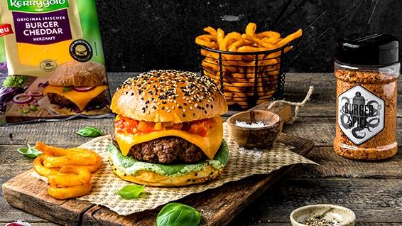 Image of Burger mit Paprika-Mango-Chutney