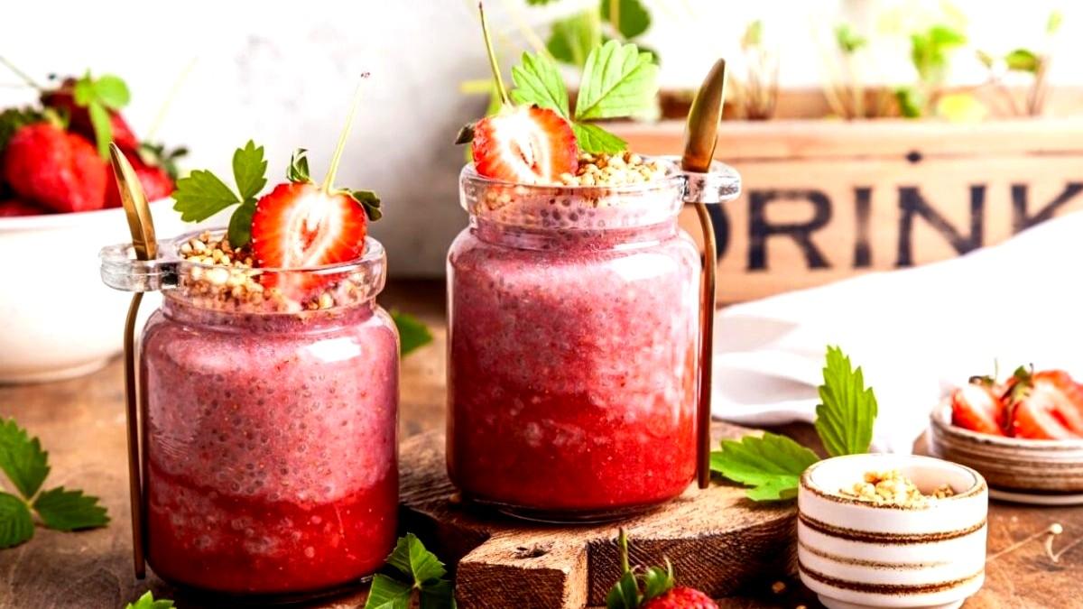 Image of Strawberry Almond Chia Pudding