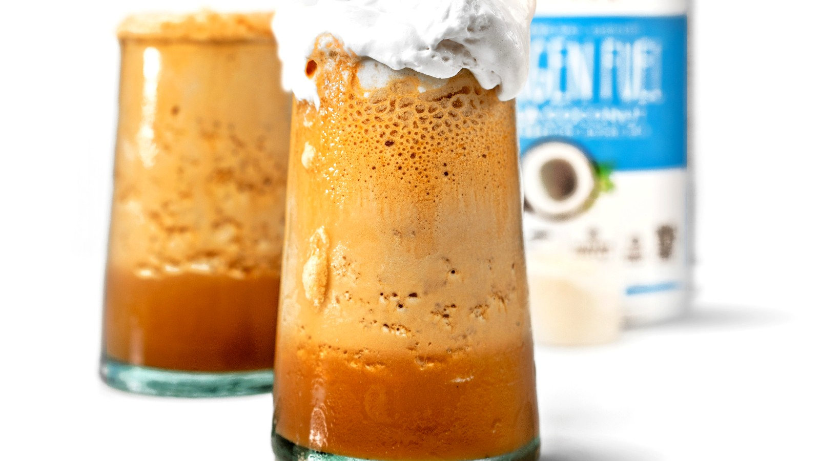 Image of No Dairy Blended Iced Collagen Coffee