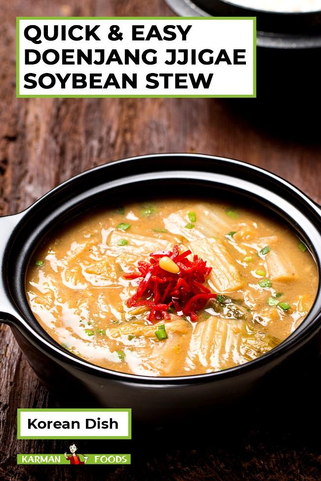 Image of Quick and Easy Doenjang Jjiggae Korean Soybean Stew
