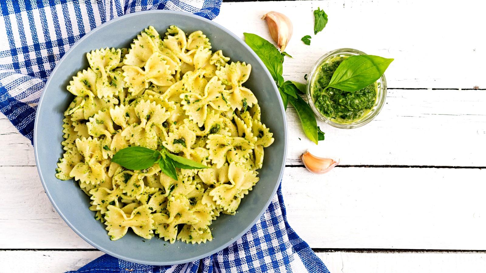 Image of Pesto Pasta with Pine Nuts
