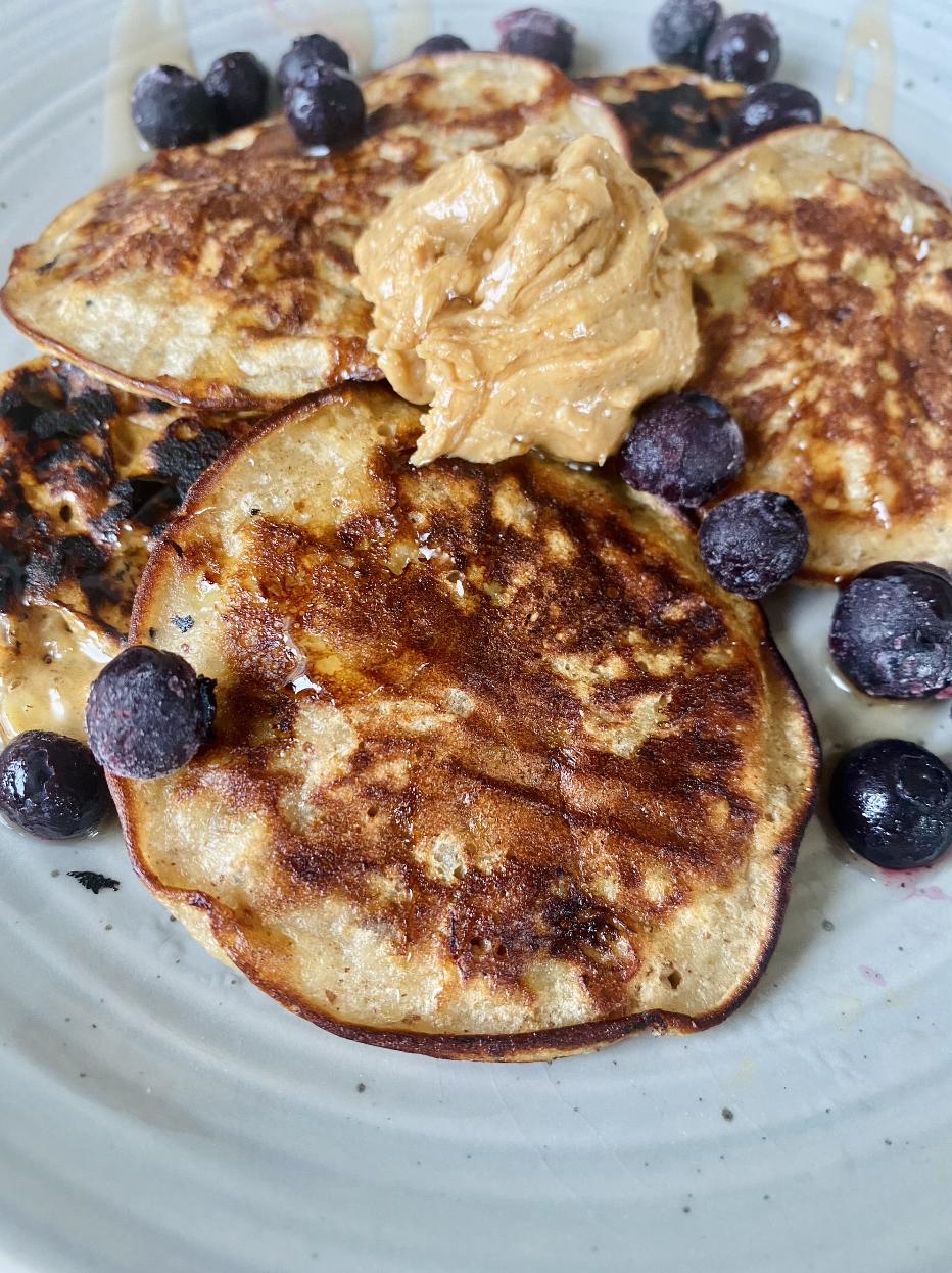 Image of Single Serve PB&J Banana Bread Pancakes