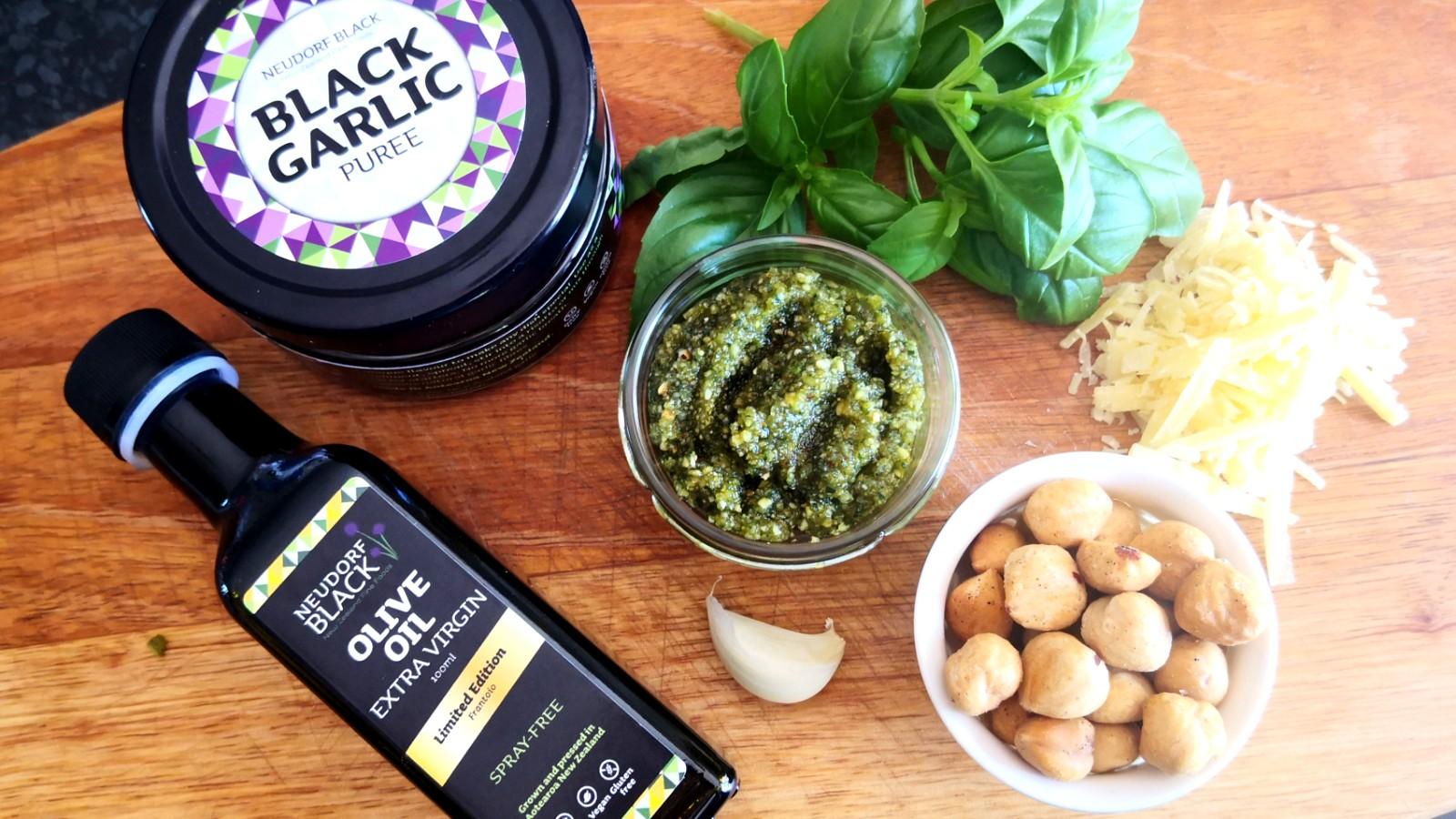 Image of Black Garlic and Hazelnut Pesto