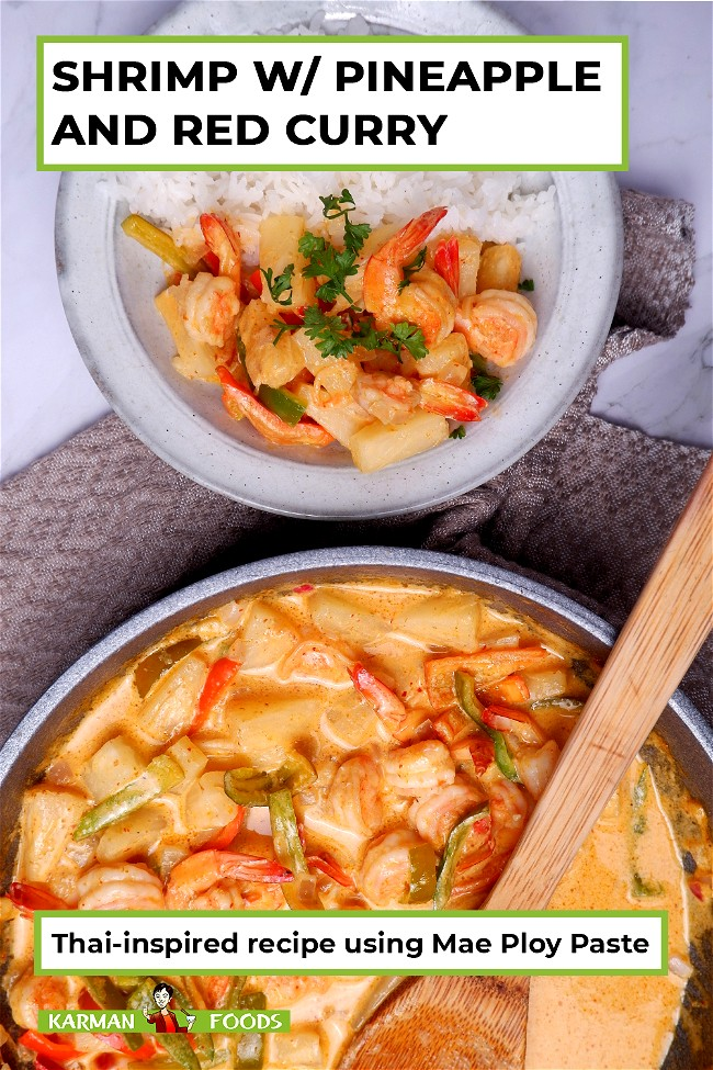 Image of Shrimp with Pineapple and Red Curry