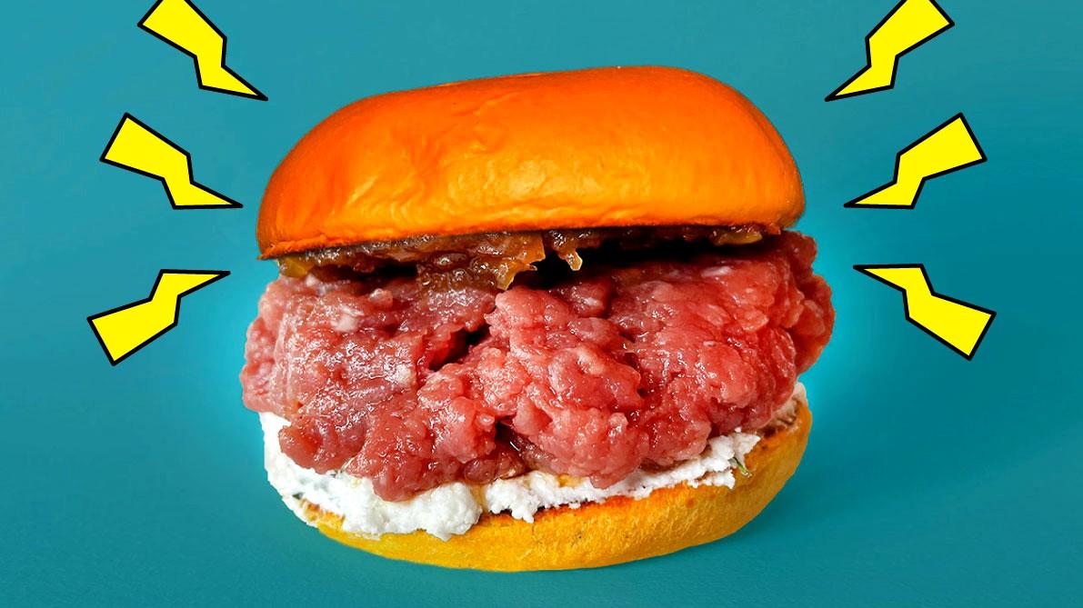 Image of Tartare Burger di manzo con formaggio caprino