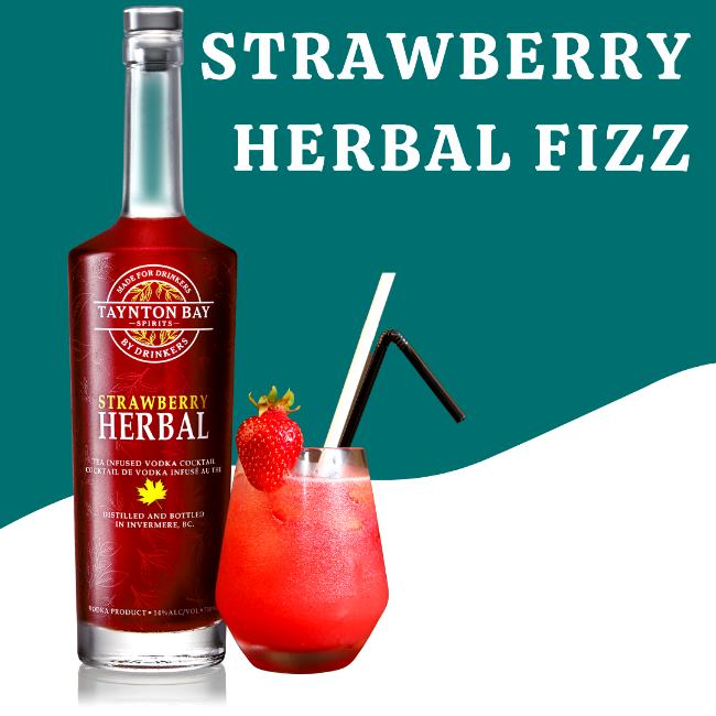 Image of Strawberry Herbal Fizz Recipe