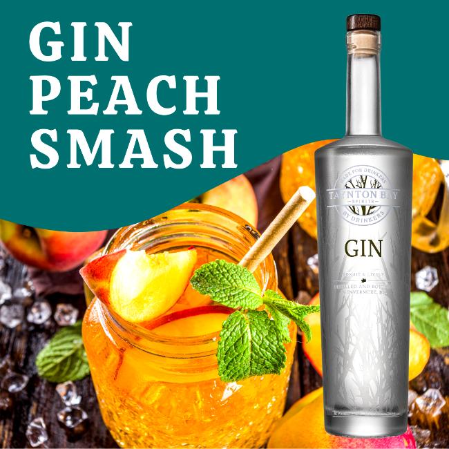 Image of Gin Peach Smash Recipe