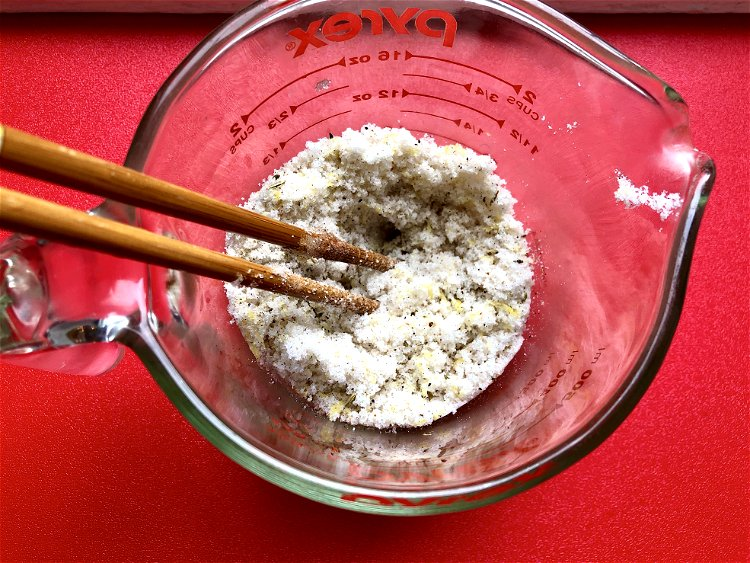 Image of In another bowl mix together the sugar, salt, and lemon...