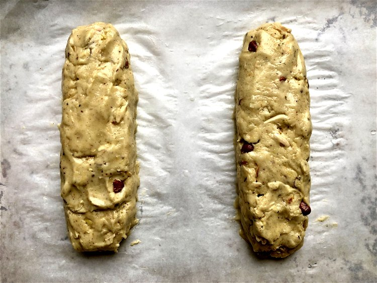 Image of Divide the sticky dough into two equal pieces in the...