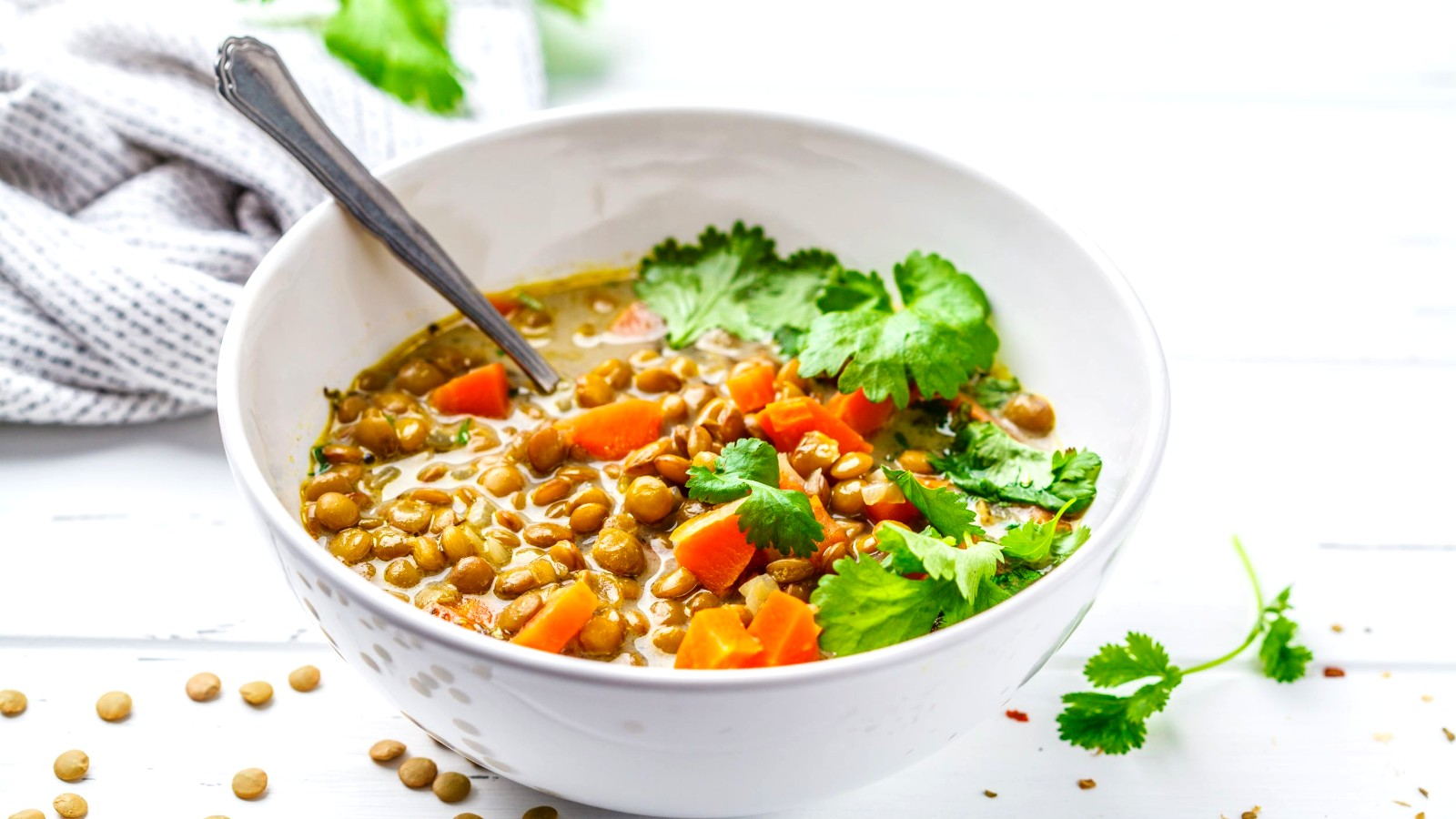 Image of Grounding Lentil Soup with Avocado and Ginger
