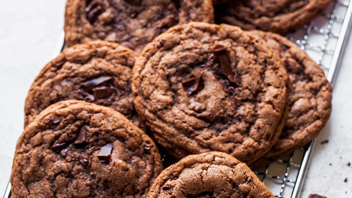 Image of Double Chocolate Chunk Tahini Cookies