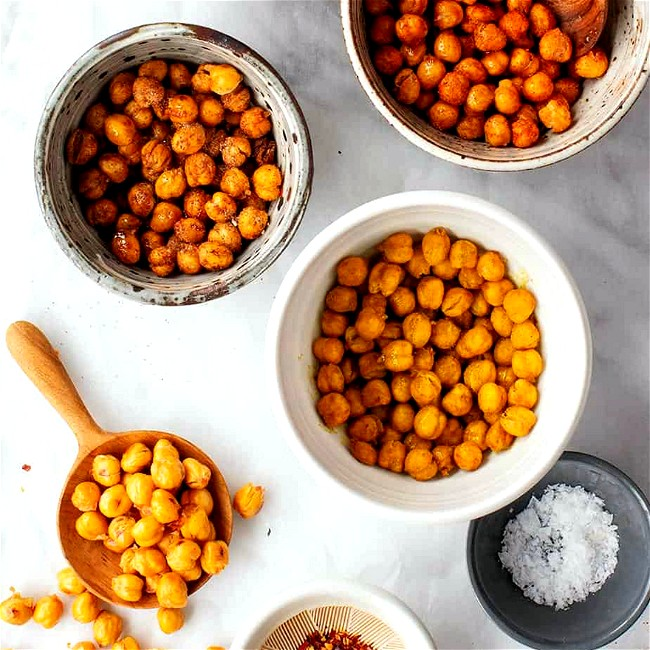 Image of Crispy Roasted Chickpeas with Olive Oil