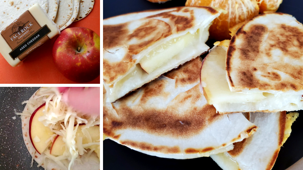 Image of Aged Cheddar and Apple Quesadilla