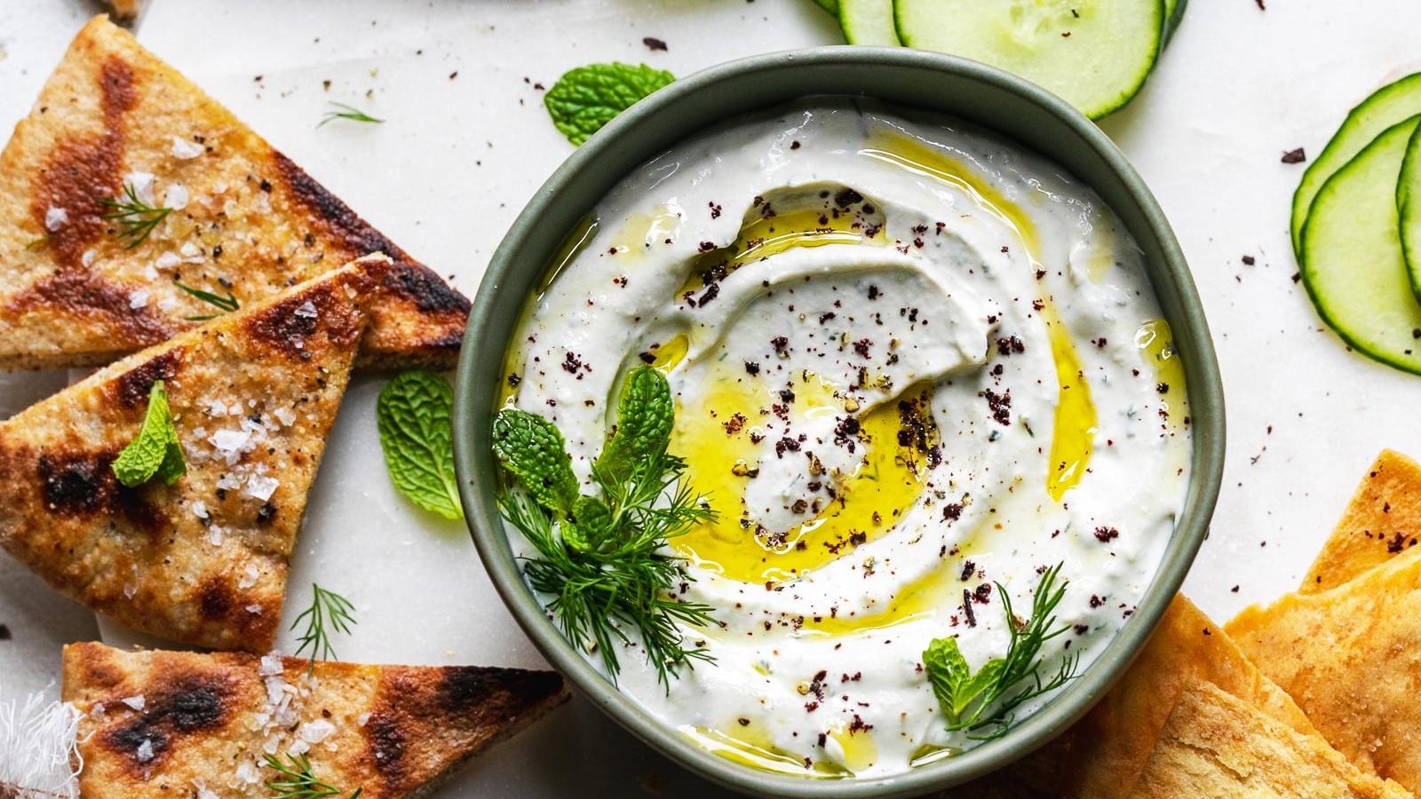 Image of Garlic Yogurt Tahini Dip