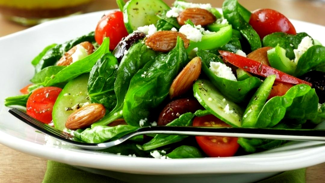 Image of Greek Spinach Almond Salad