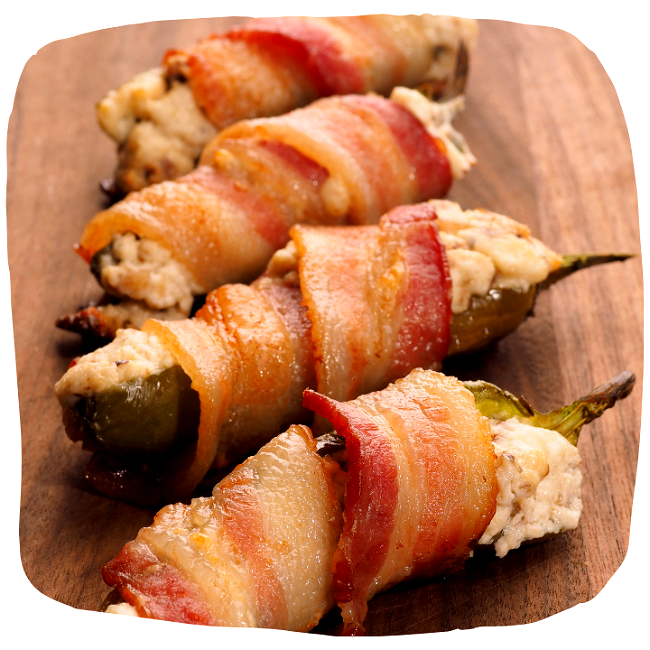 Image of Jalapeno Bacon Wrapped Poppers