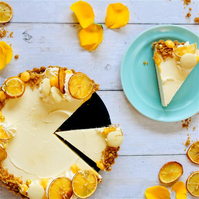 Image of White Chocolate & Lemon Cheesecake