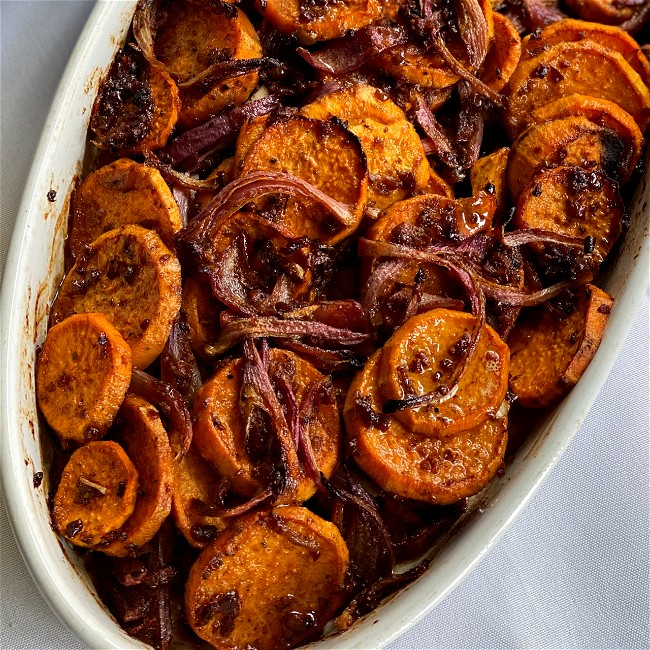 Image of Sweet Potatoes with Olive and Lemon