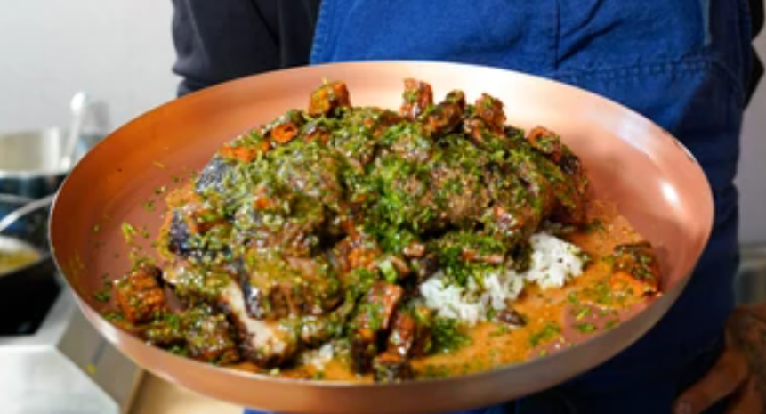 Image of Spiced Lamb Sirloin with Mom's Rice and Slow Roasted Carrots