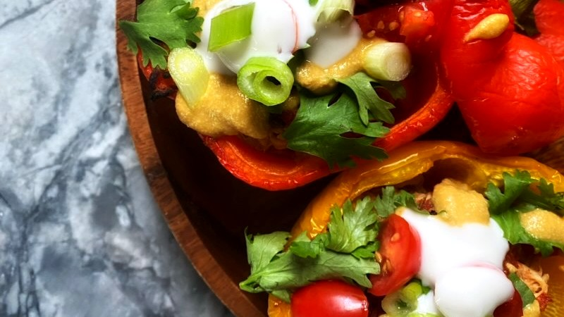 Image of Chicken Taco Stuffed Peppers