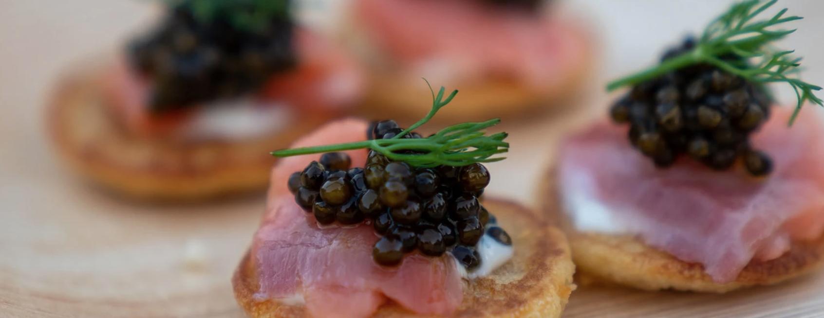 Image of California White Sturgeon Caviar with Potato Chips