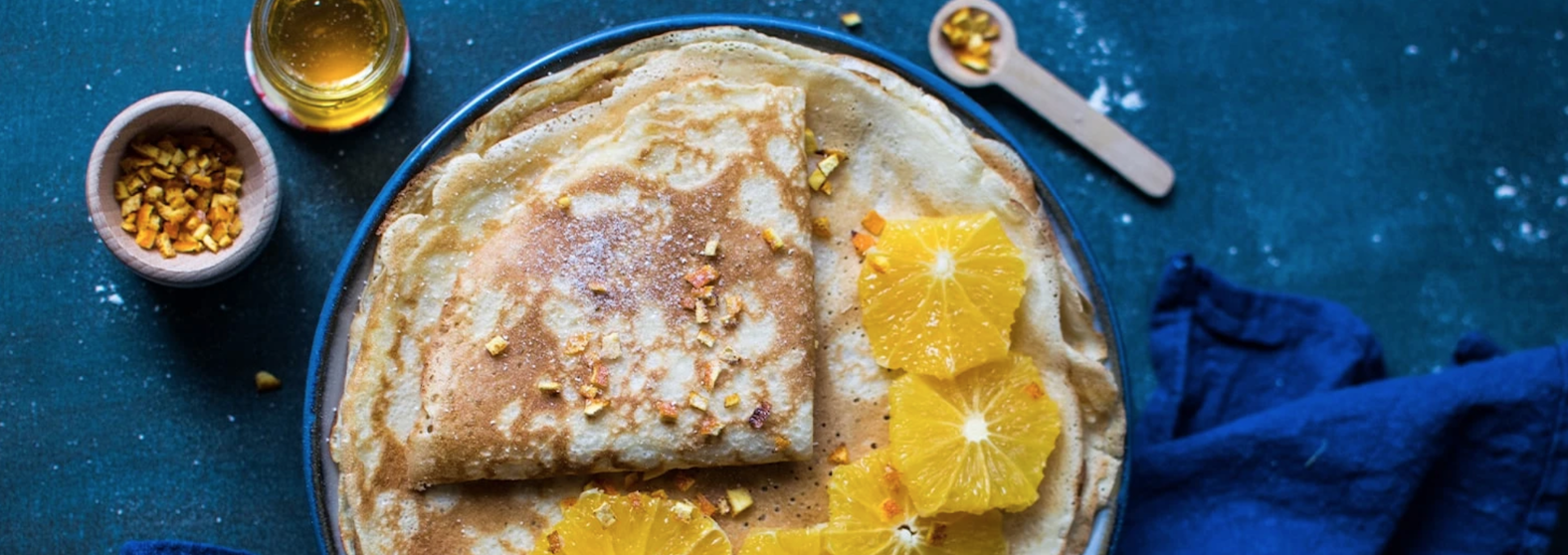 Image of Crepes Suzette with Brown Butter Truffle Honey