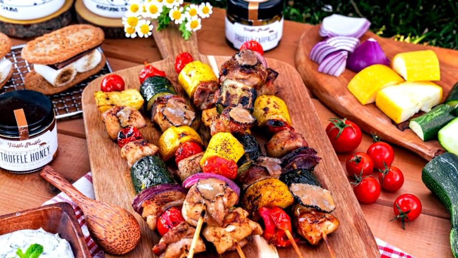 Image of Truffle Marinated Chicken Kebabs