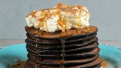 Image of Mexican Smoked Chocolate Pancakes