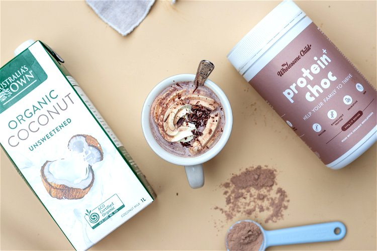 Image of In a small saucepan, whisk milk, Protein+ Choc powder and...