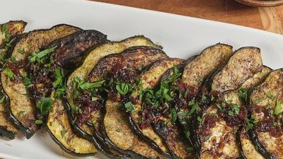 Image of Grilled Acorn Squash With Bacon Jam