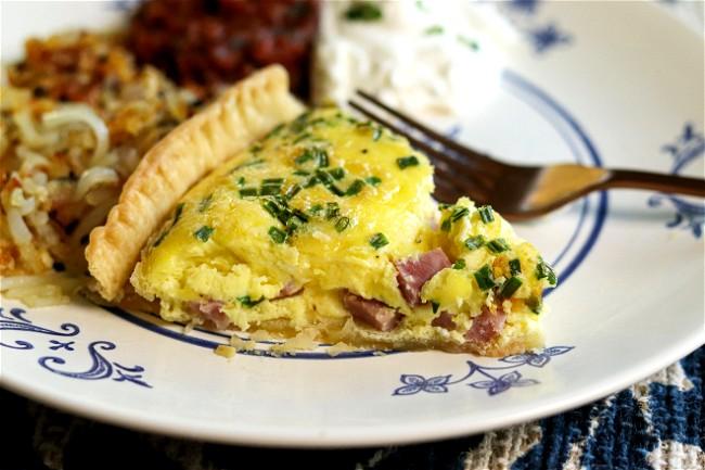 Image of Ham & Chive Quiche
