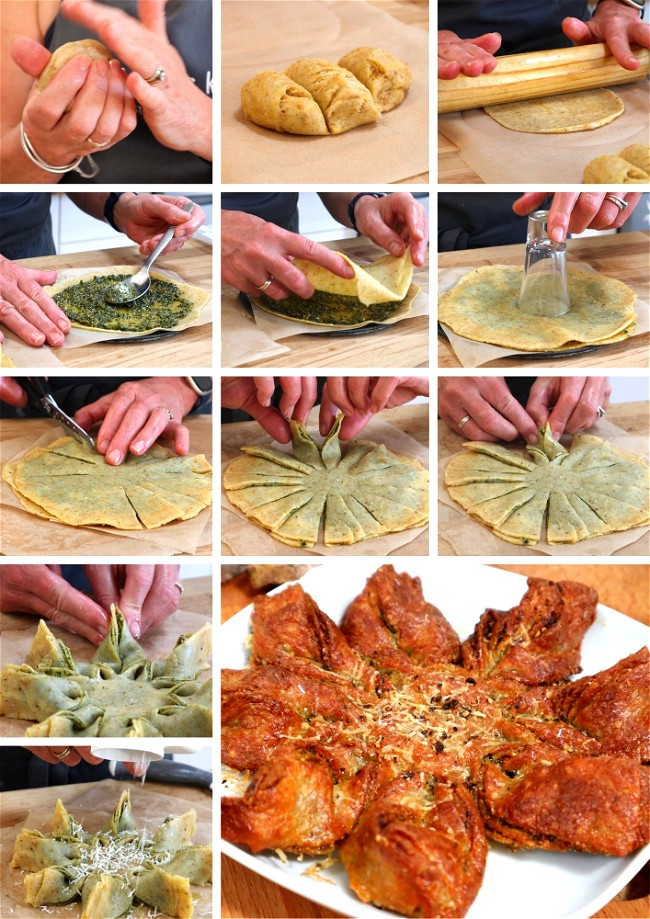 Image of Pesto or Garlic MKD Star Bread