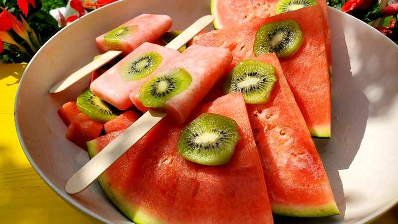 Image of Watermelon Kiwi Popsicles
