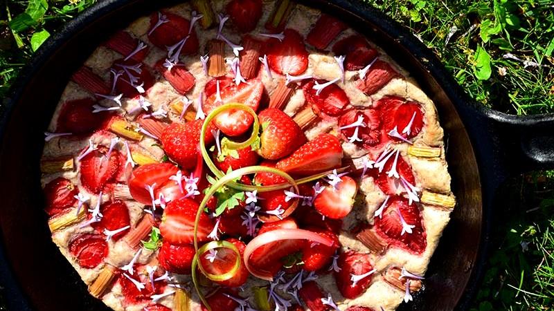 Image of Strawberry Rhubarb Clafoutis