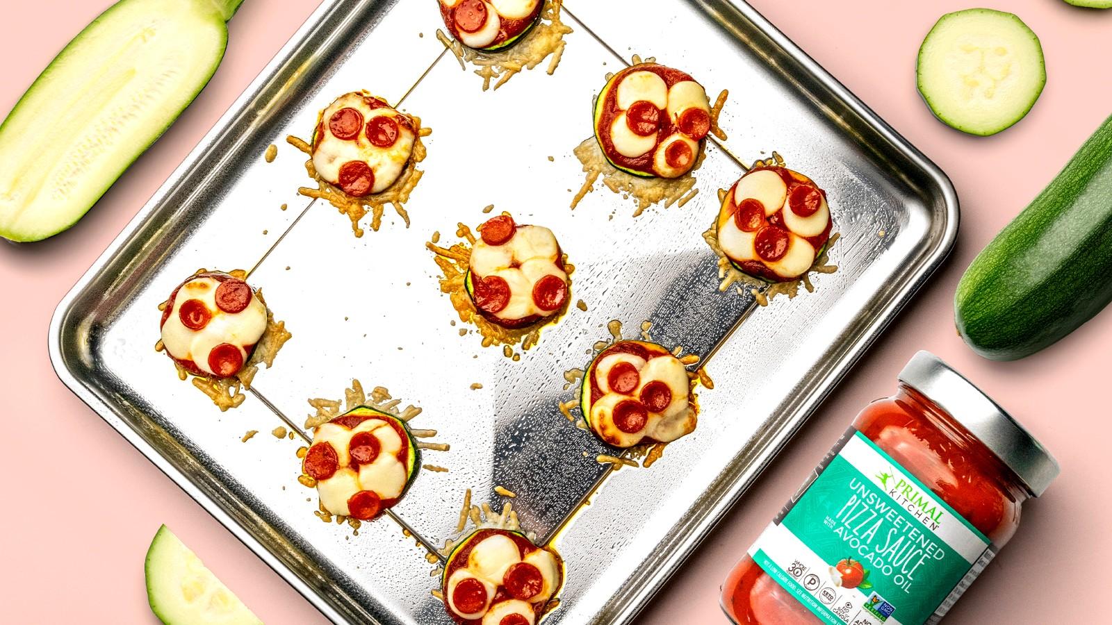 Image of Crispy Zucchini Pizza Bites