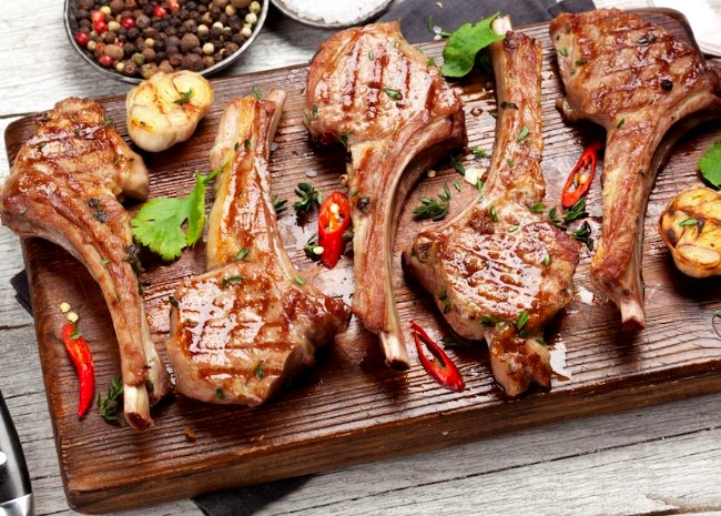 Image of Grilled Spicy Lamb Chops