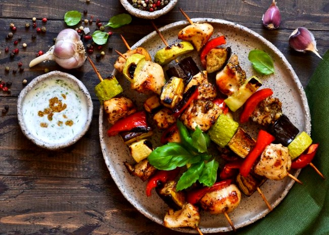 Image of BBQ Chicken Kebabs