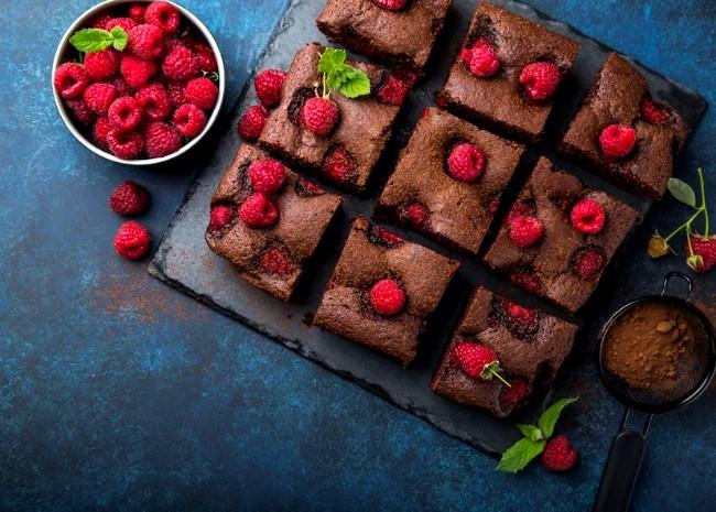 Image of Chocolate Raspberry Balsamic Brownies