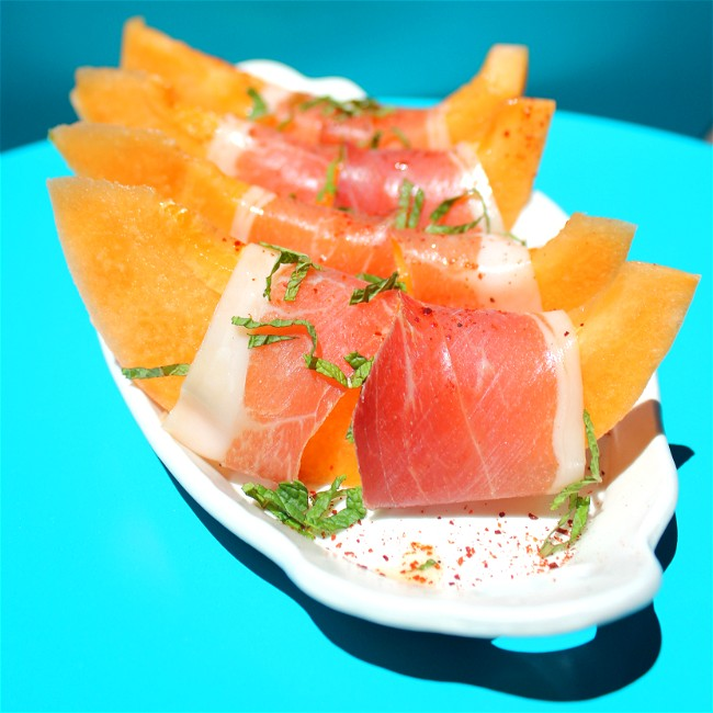 Image of Prosciutto with Lime and Melon