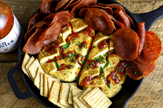 Image of Smoked Cream Cheese with Salami Chips