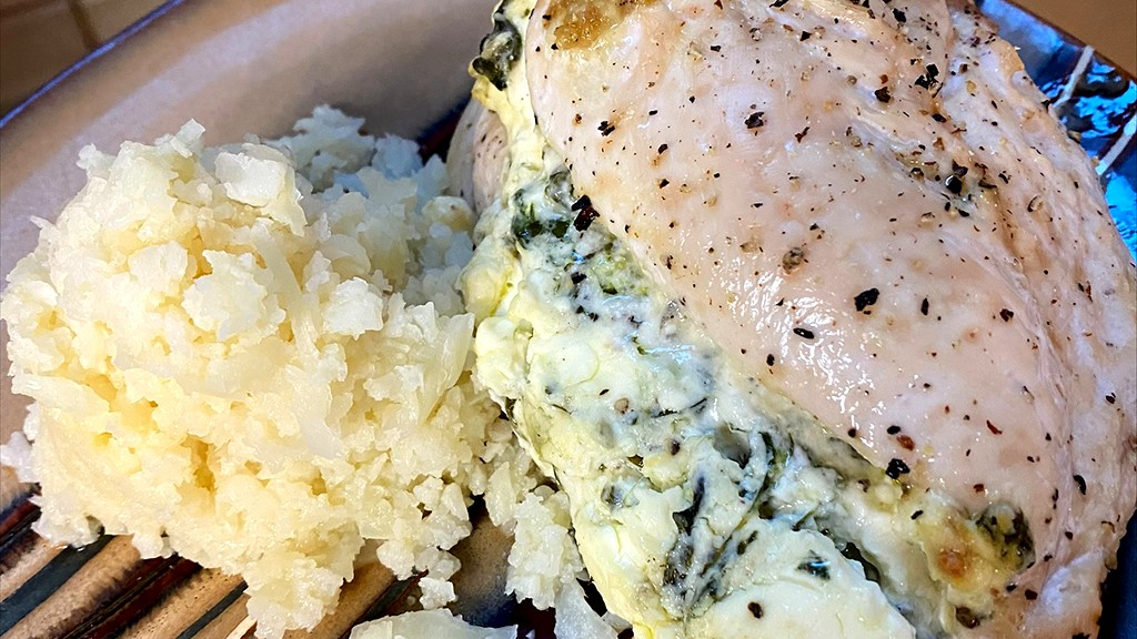 Image of Keto Spinach and Feta Stuffed Chicken