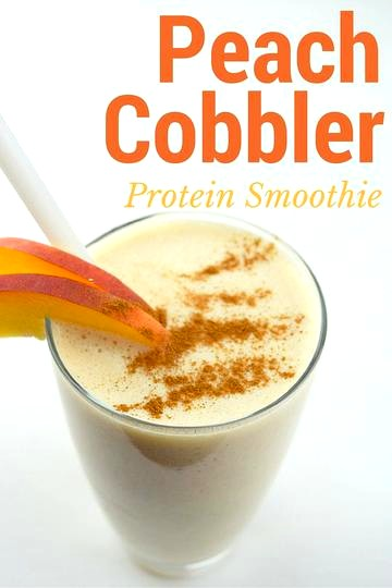 Image of Peach Cobbler Protein Smoothie