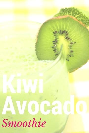 Image of Kiwi Avocado Grass-Fed Protein Smoothie