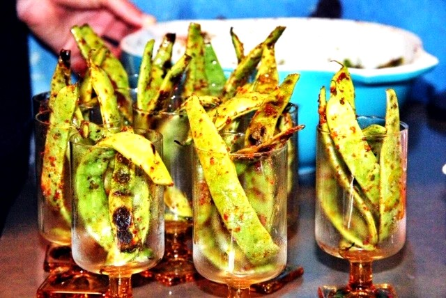 Image of Grilled Comapeño Romano Beans