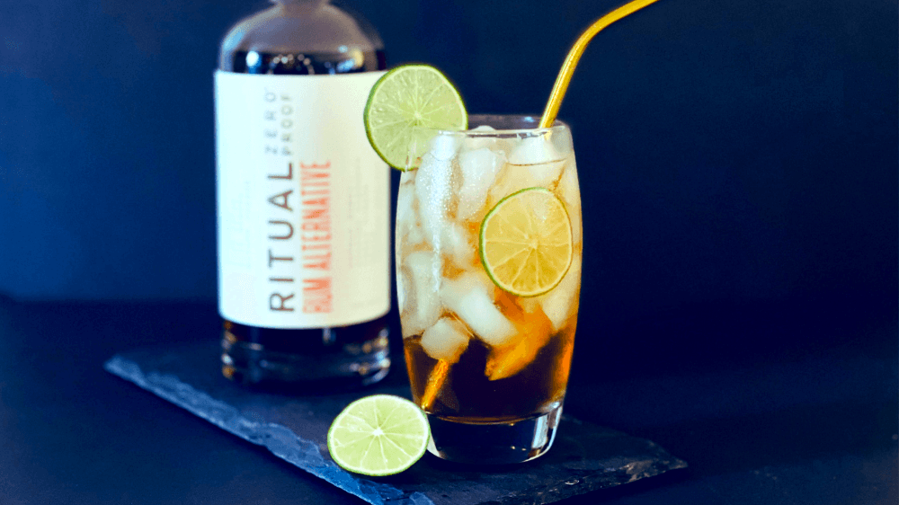 Image of Ritual Non-Alcoholic Rum Dark and Stormy Cocktail Recipe