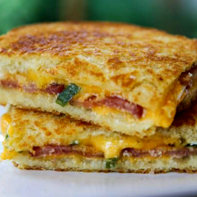Image of Grilled Scallion Cheese Sandwiches
