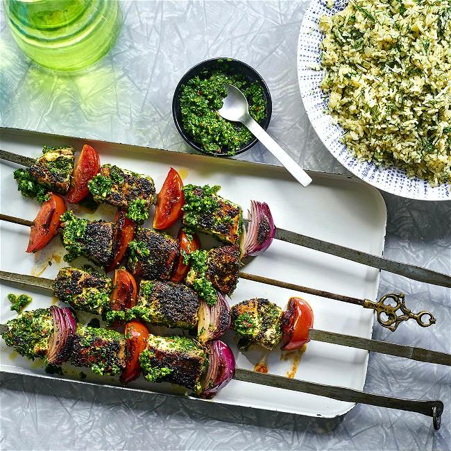 Image of Herbed Fish Kebabs